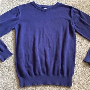 Boys children's place solid navy blue v sweater